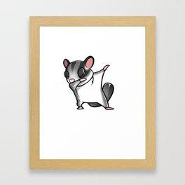 Funny Dabbing Sugar Glider Pet Dab Dance Framed Art Print