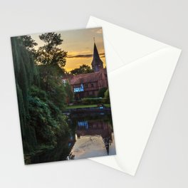 Early Evening Whitchurch on Thames Stationery Cards