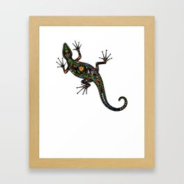 Lézard colors Framed Art Print