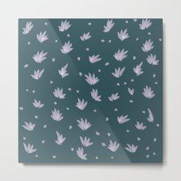 Flowers on the Lake Metal Print