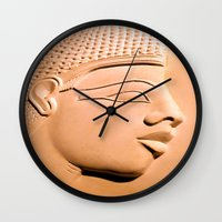 egyptian Wall Clocks featuring Egyptian Beauty by Brian Raggatt