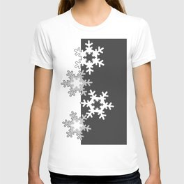 Black and white Christmas pattern T-shirt