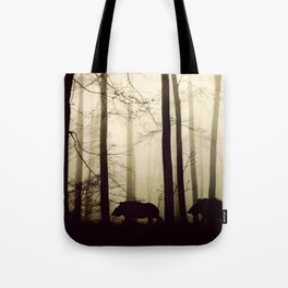 Night in the forest Tote Bag