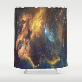 Intergalactic Galaxy Clouds Shower Curtain