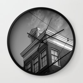 Old building in Holland. Wall Clock
