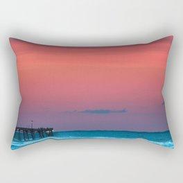 Sunset by the Avalon Pier Rectangular Pillow