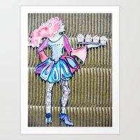 Chloe Cupcake Art Print