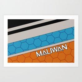 Borderlands Maliwan Brand Art Print