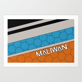 Borderlands Maliwan Brand Art Print