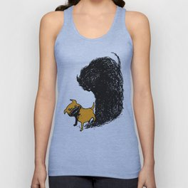 Haunted pug Unisex Tank Top