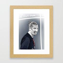 Zlatan Ibrahimovic - PSG Framed Art Print