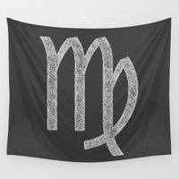 virgo Wall Tapestries featuring Virgo by David Zydd
