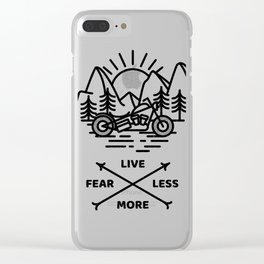 Live More Clear iPhone Case