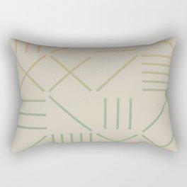 Geometric Shapes 11 Gradient Rectangular Pillow