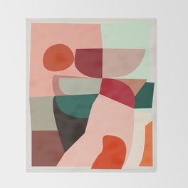 Geometric shapes Throw Blanket