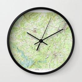 VA Roanoke 188802 1985 topographic map Wall Clock