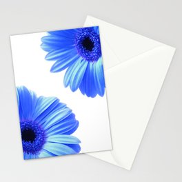 Blue Gerbera Flowers Stationery Cards