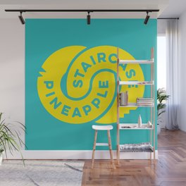 PineappleStaircase | Official Logocolor 2015 in Turquoise/Yellow Wall Mural