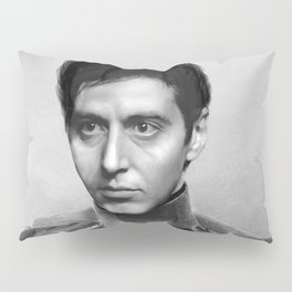 Al Pacino Scar Face General Portrait Painting | Fan Art Pillow Sham