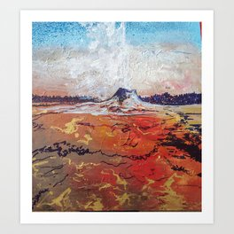Lone Star Geyser Art Print
