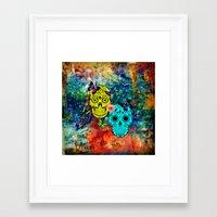 sugar skulls Framed Art Prints featuring Sugar Skulls by haroulita