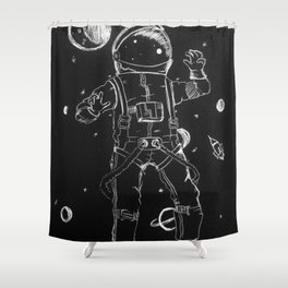Exploration: Outer Space Shower Curtain