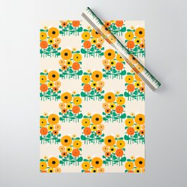 Sunflower and Bee Wrapping Paper