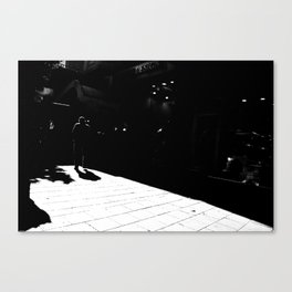 From white to black Canvas Print