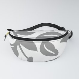 LEAF PALM SWIRL IN GRAY AND WHITE Fanny Pack