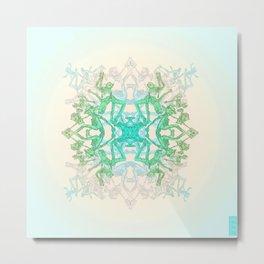 Parkour Mandala Metal Print