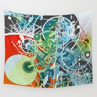 spaceship Wall Tapestries featuring Spaceship Operation System by Evgeny Kiselev
