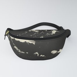 Black Marble and Blush Yellow #1 #decor #art #society6 Fanny Pack