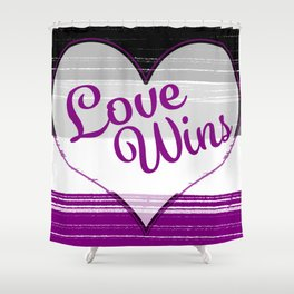 Asexual Gay Pride-Love Wins Design Shower Curtain