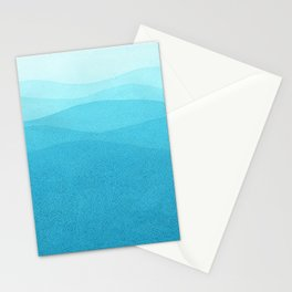 Turquoise waves. Stationery Cards