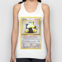 snorlax Tank Tops featuring Snorlax Card by Neon Monsters