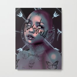 Alieness  Metal Print