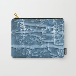 Dark slate blue nebulous watercolor texture Carry-All Pouch
