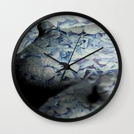 Blue Floral Breasts Wall Clock
