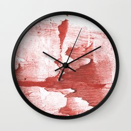 Indian red colored watercolor Wall Clock