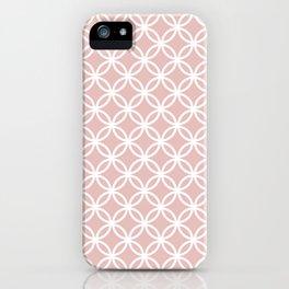 Beige and white interlocking circles iPhone Case