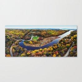 Acacia Valley Panorama Canvas Print