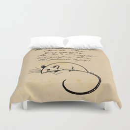 To a Mouse - Robert Burns - Mice and Men Duvet Cover