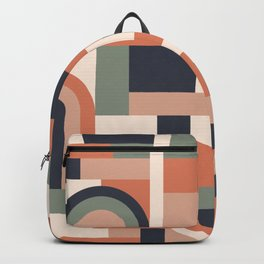 Earth Tones Blocks #society6 #pattern Backpack