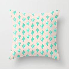 Cactus Print Throw Pillow