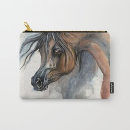 Arabian horse portrait watercolor art Carry-All Pouch