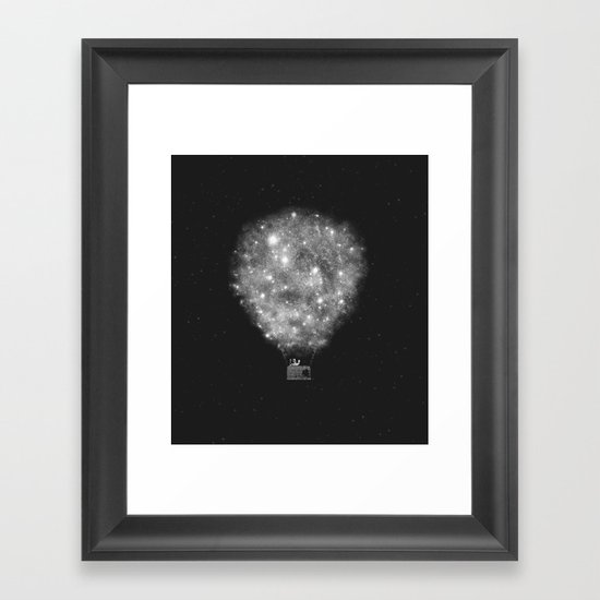 Supernova Sky Ride Framed Art Print