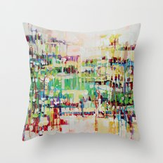 ABSTRACTION island Throw Pillow
