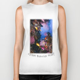 Tropical Fish Great Barrier Reef Coral Sea Biker Tank