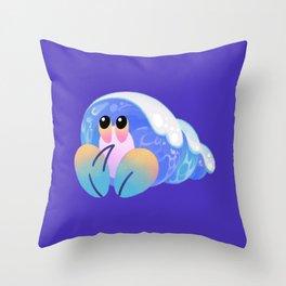 Ocean wave shells Throw Pillow