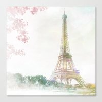 eiffel tower Canvas Prints featuring Eiffel Tower by NKlein Design